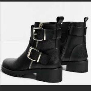 NWT Zara black moto boots
